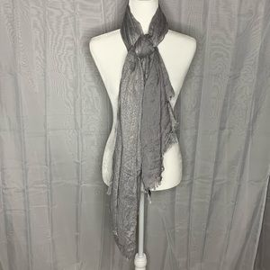 Express Gray Silver Shimmer Scarf